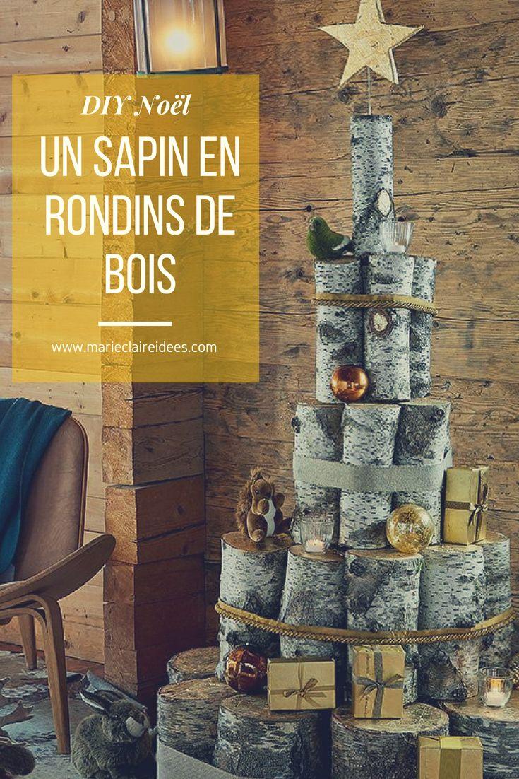 Les 25 meilleures id es de la cat gorie rondin de bois sur - Sapin de noel en rondin ...