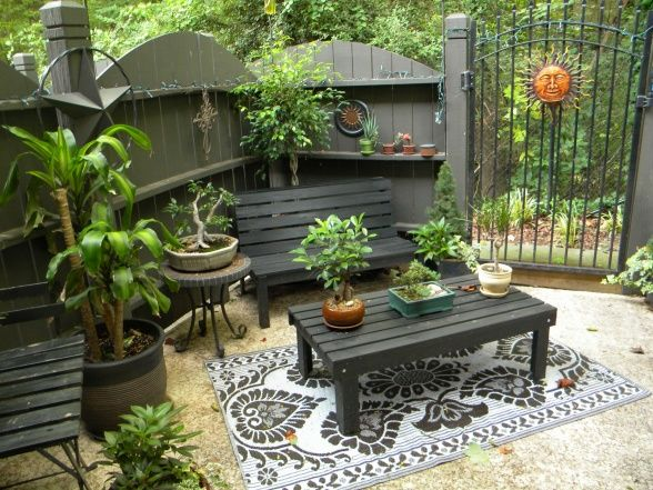 38 best small patios and such images on pinterest | patio ideas ... - Patio Furniture Ideas For Small Patios