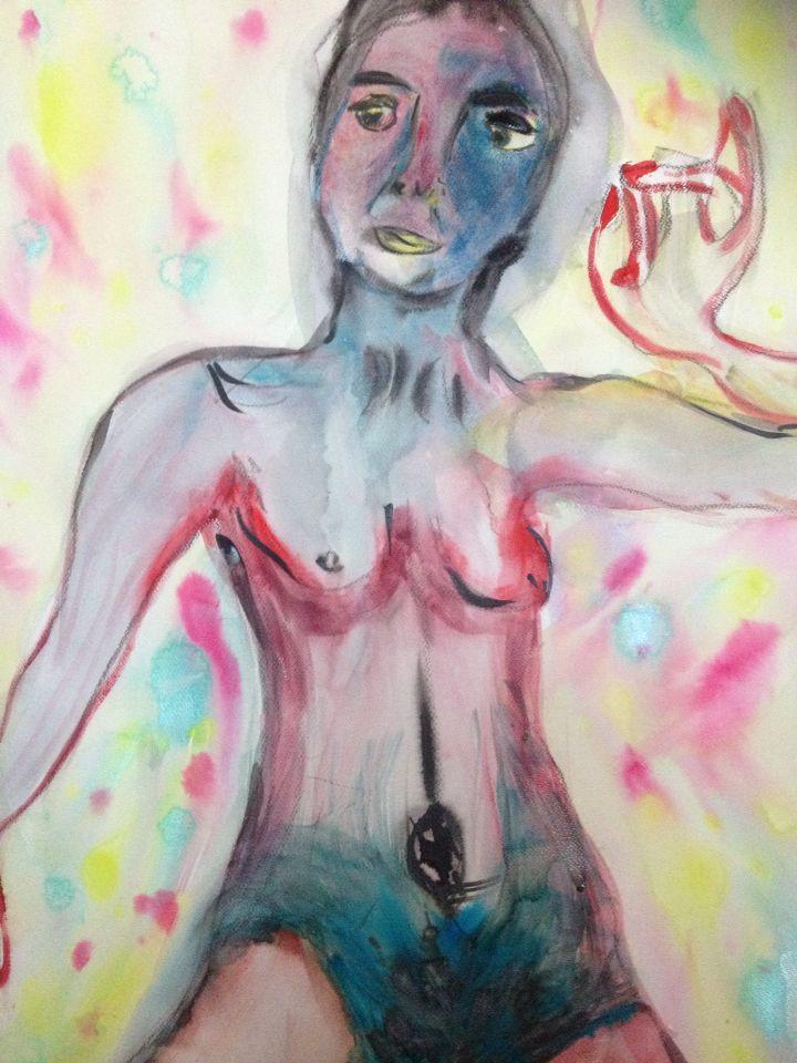Mujer desnuda en formati grande