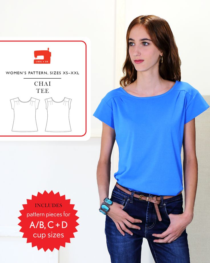 We're pleased to introduce the new Liesl + Co. Chai Tee sewing pattern. Use it to make a simple and stylish pull-on top that is much more than just a basic tee.