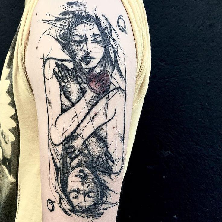 Des tatouages qui imitent des croquis - Tattoos.fr