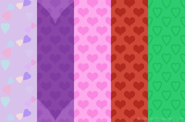 5 Free Valentines day themed Backgrounds