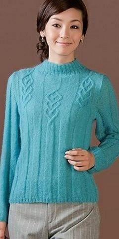 Голубой свитер | Вязание и рукоделие