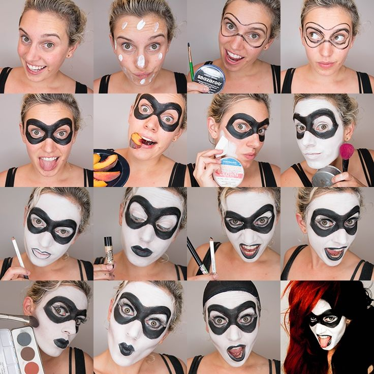 Harley Quinn Makeup Ideas | Instructions supplies and more photos after the jump! (more…)