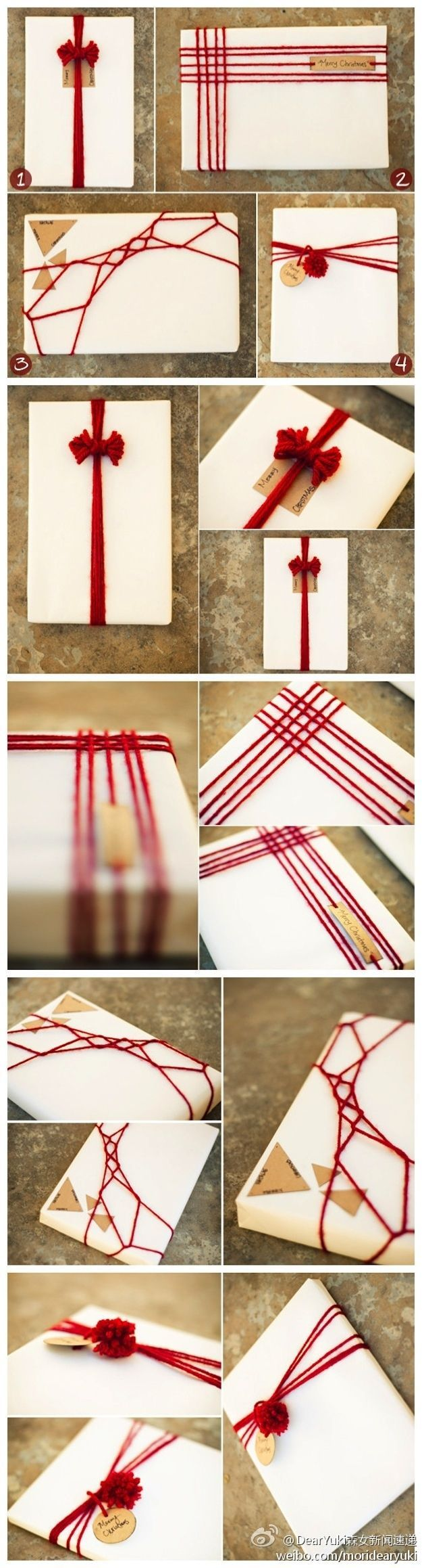 Yarn Gift Wrapping.
