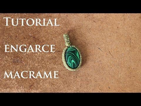 tutorial engarce de piedra sin ranura en macrame # 3 | wrap stone macrame - YouTube