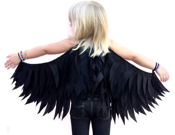 Black Raven Wings Childrens Costume by sparrowandbcostumery