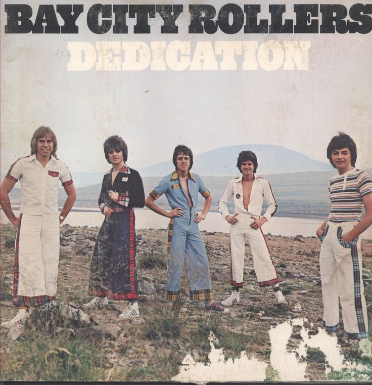 This is Bay City Rollers Dedication vinyl record album. The pictures are of the album cover. It is recorded on Arista Record Label #AL-4093 in 1976. There are play marks and scratches visible on the v