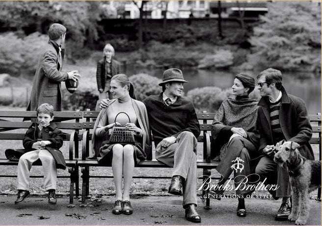 """Brooks Brothers Fall 2008 Ad Campaign """"Diary of a Park Bench""""."""