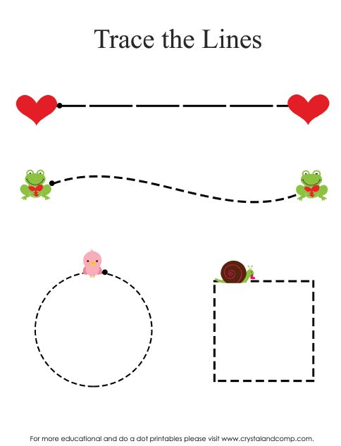Preschool Do a Dot Printables: Valentine Hearts