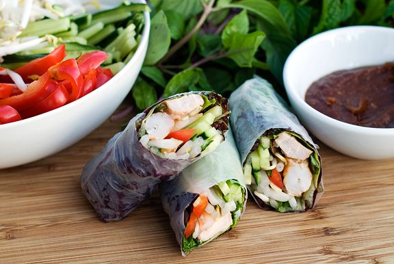 Vietnamese Spring Rolls with Hoisin/Peanut Dipping Sauce (long post ...