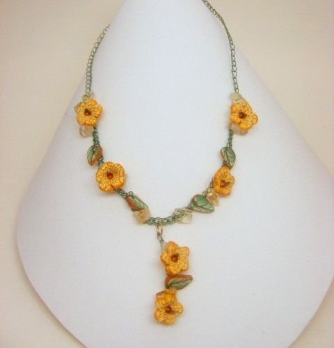 Crochet Flower Necklace Free Pattern CROCHET FLOWER WIRE ...
