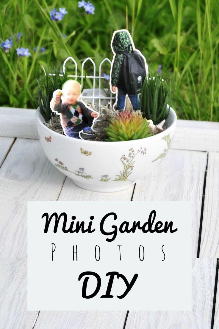 minigarten mit familienfotos geschenke mit foto wundersch ne geschenke und diy mit kindern. Black Bedroom Furniture Sets. Home Design Ideas