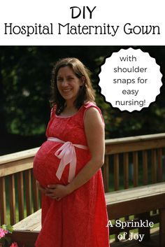 A free, DIY Nursing Hospital Maternity Gown.  Includes instructions on how to make your own pattern and step by step directions with lots of pictures.