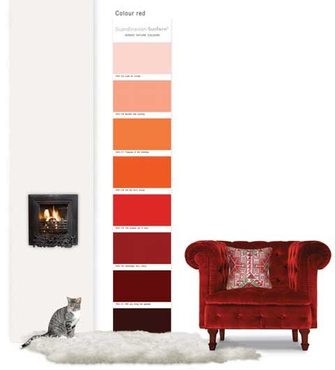 Rood in je interieur | Maison Belle