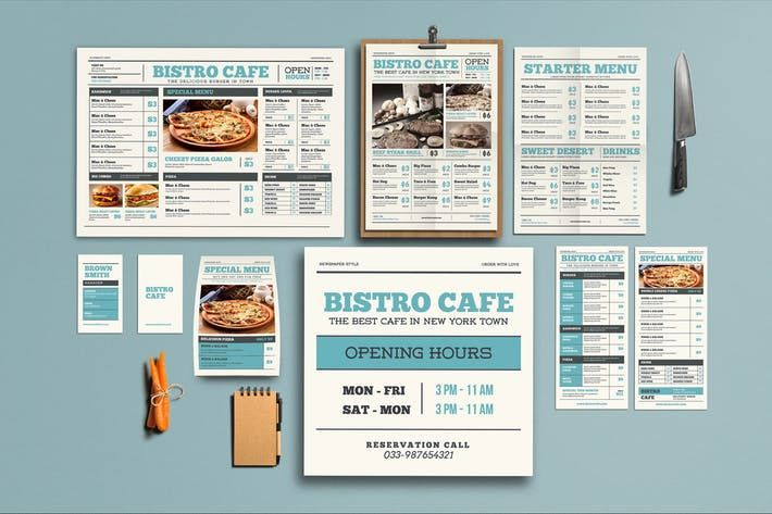Newspaper Style Menu Package By Guuver On Envato Elements Restaurant Menu Template Menu Template Yellow Wedding Invitations