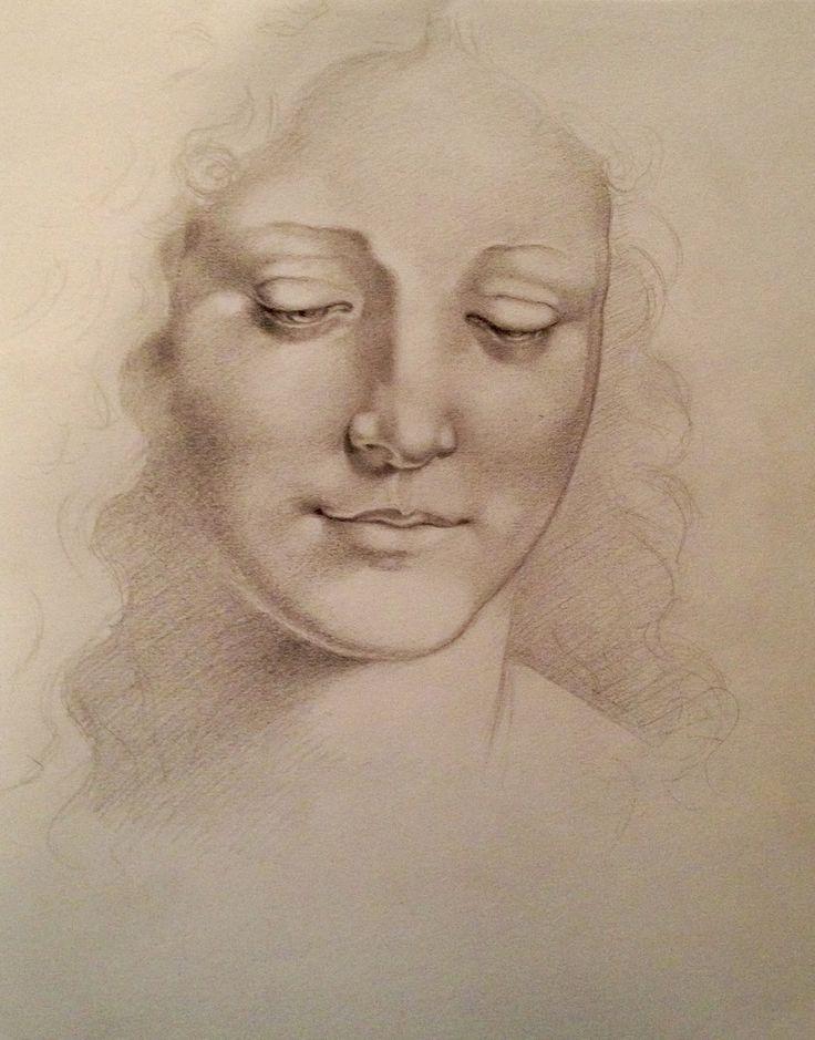 Master Study of Leonardo Da Vinci by Carolin Prinn #artofcarolinprinn #leonardo da vinci #master study #drawing #sketch @Art of Carolin Prinn