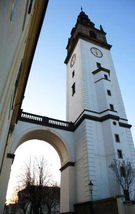 The tower of St.Stephen's Cathedral (Czech: Katedrála sv. Štěpána) in Litoměřice (North Bohemia), Czechia.  #cathedral #czechia