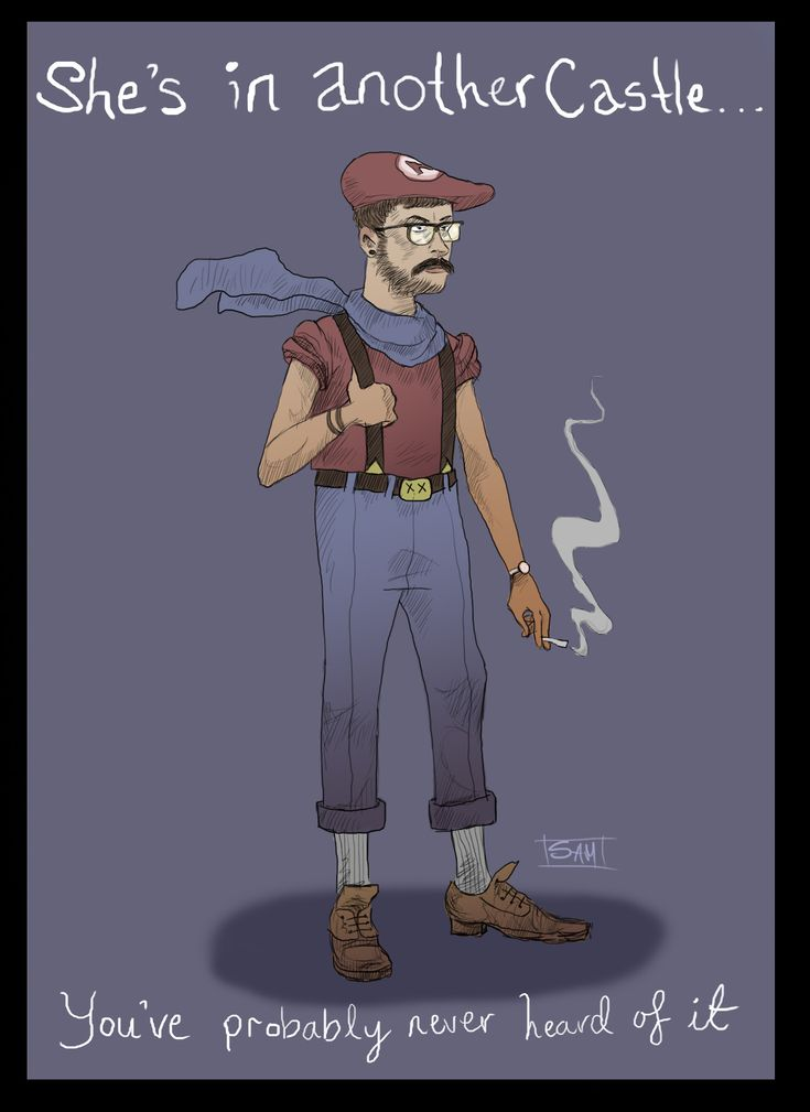 Super Mario characters reimagined as hipsters