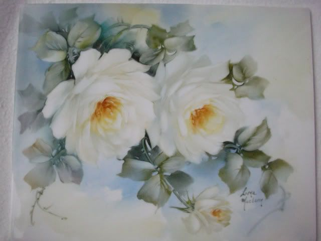 Roses by Lorna Maclaren - With Instructions | ARTchat - Porcelain Art Plus (formerly Chatty Teachers & Artists)