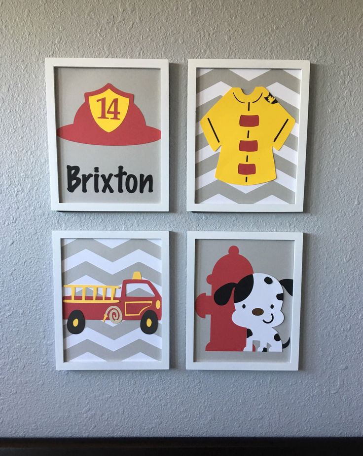 A personal favorite from my Etsy shop https://www.etsy.com/listing/451629978/fireman-firefighter-boy-nursery-art