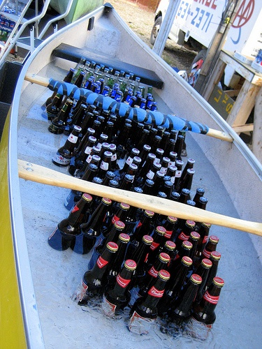 Canoe Coolers - great idea for a summer party or a day at the lake house!