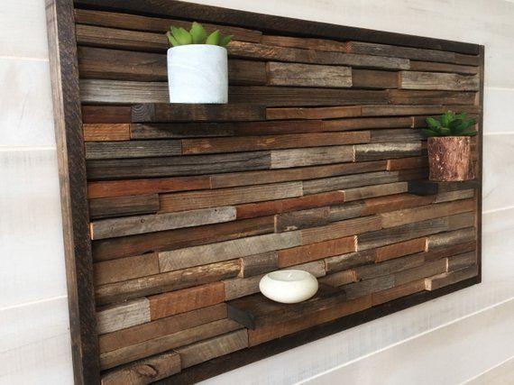 Reclaimed Wood Wall Art Wood Wall Decor Rustic Art Modern