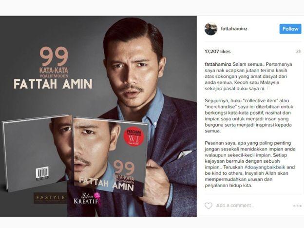 Kecoh satu Malaysia pasal buku saya: Fattah   Diambil dari akaun instagram milik Fattah Amin  BARUsahaja menerbitkan buku 99 Kata-Kata #Qalifmoden nama Fattah Amin terus panas di media sosial malah kisah bukunya menjadi bualan di alam maya. Mana tidaknya pelbagai trolls mengenai isi kandungan bukunya disebut-disebut netizen sejak ia dilancarkan baru-baru ini. Hari ini Fattah Amin menerusi akaun Instagramnya tampil meluahkan perasaannya terhadap serangan-serangan netizan kepadanya.  Salam…