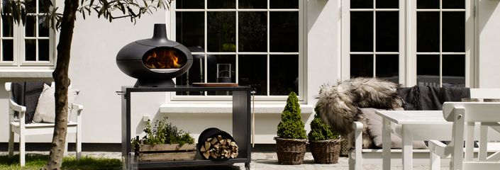 Morsø Outdoor Oven warmth on the patio and crisp, crunchy pizzas and perfect bread in just a few minutes.