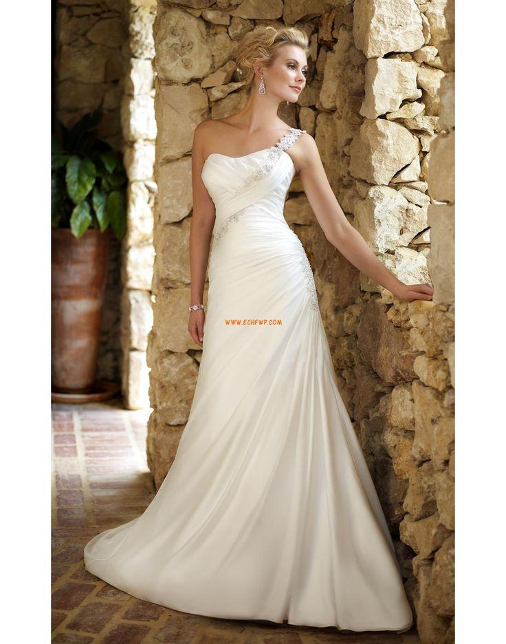 A-line Lacets Naturel Robes de mariée 2014