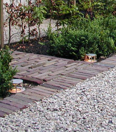 Loose brick around garden beds
