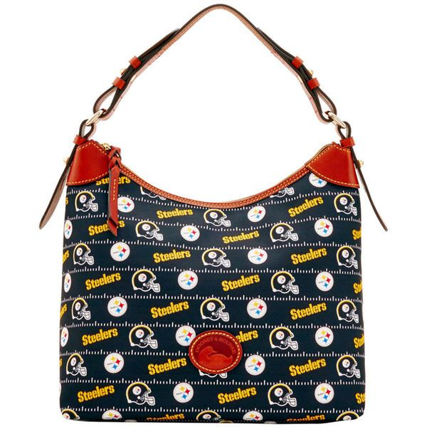 Pittsburgh Steelers Dooney & Bourke Women's Team Color Large Erica Purse - Black - $168.00