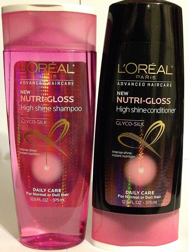 L'Oreal Paris Advanced Haircare - Nutri-Gloss - High Shine Shampoo and Conditioner - Net Wt. 25.4 FL OZ (750 mL) Each - One Set * Read more reviews of the product by visiting the link on the image.