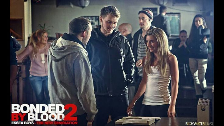 Behind the scenes: Director Greg Hall with stars Sam Strike and Dani Dyer