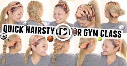 10 coiffures rapides et faciles pour les cours de gymnastique / P.E. # coiffures #Easyhairstyles - # classe #Easyhairstyles # cheveux
