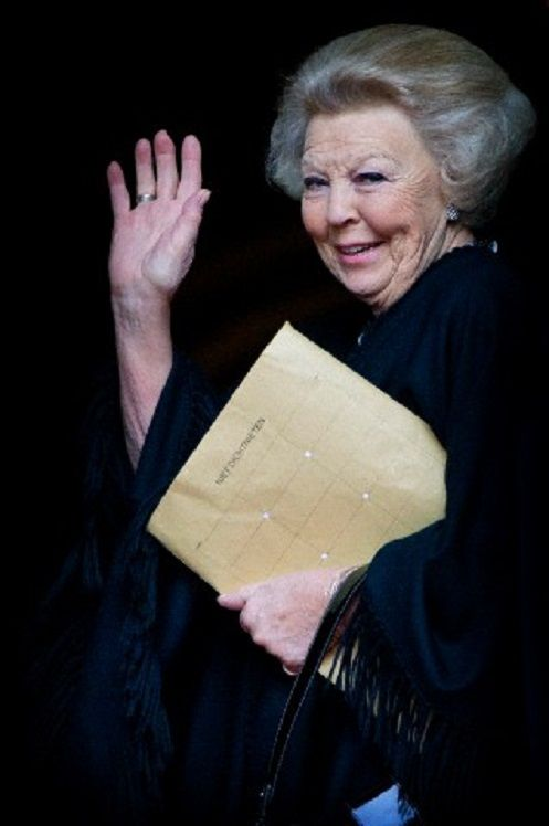 Dutch Princess Beatrix arrives for the new year reception at the Royal Palace in Amsterdam, The Netherlands, 15.01.14.