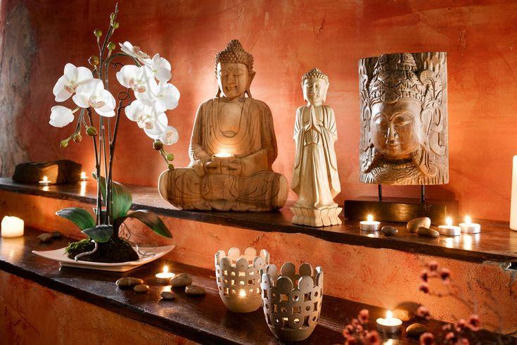 salle detente bien etre statues bouddha