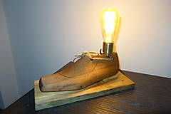 Edison lamp made from an old shoe form.