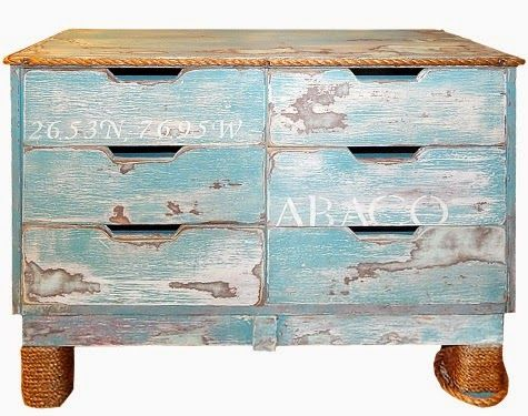 Nautical Dresser Makeover With Creative Handles Rope Edging The Before Pic A