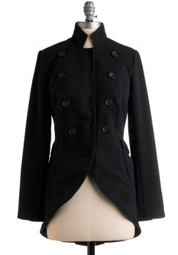 High-Ranking Style Coat, #ModCloth (military style trend)