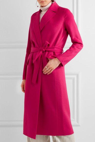 Fuchsia wool-blend felt Slips on  59% wool, 35% polyester, 6% silk; trim: 100% polyester Dry clean