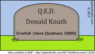 What it is going to say on Knuth's tombstone