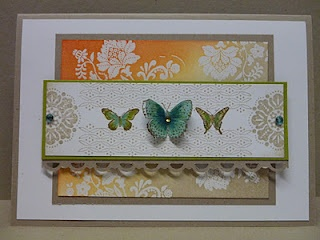 Love the glowing orange as part of the emboss resist shading. Beautiful card.: Cards Design, Beautiful Cards, Cards Ideas, Cards Butterflies, Greeting Cards, Butterflies Cards, Cards Inspiration, Homemade Cards, Add Ink