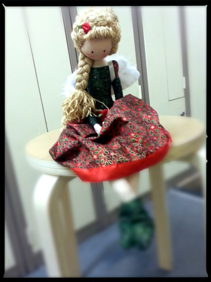 Theo Ragdolls - Chirstmas Fairy (Anna's) Handmade Doll, Fabric Doll, Cloth Doll