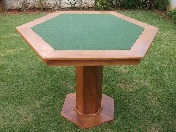 Como fazer uma mesa sextavada para jogar cartas.