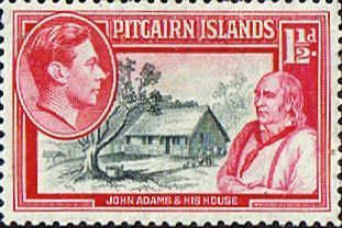 Pitcairn Islands postage stamps   Postage Stamp Stamps Pitcairn Islands 1940 SG 3 John Adams Fine Mint ...