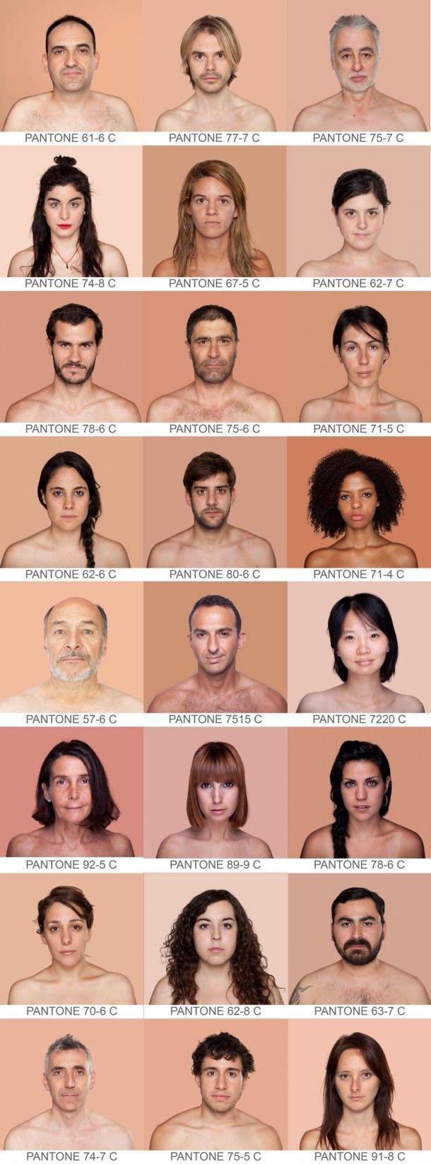 """Humanae"" de l'artiste photographe espagnole Angelica Dass,"