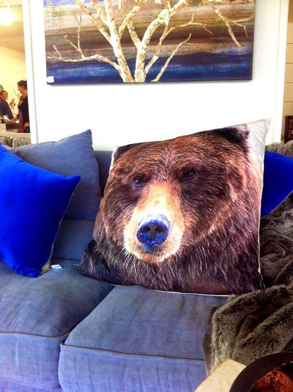 #bearpillow #bearcushion #rustic #rusticdecor #rusticliving This just feels so nice & wintery!