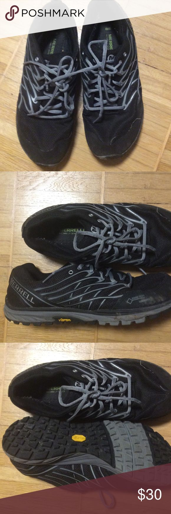 Merrell minimalist Vibram shoe w gore-Tex Used in good condition w no sign of wear on the Vibram sole. Super comfortable Merrell minimalist shoe w gore Tex connect Merrell Shoes Athletic Shoes