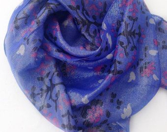 Sparkly Blue Paisley scarf, Holiday gift for Grandmother Shimmer fabric scarf  Gift for Mother in law, Birthday Gift for Coworker Blue Scarf by blingscarves. Explore more products on http://blingscarves.etsy.com